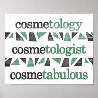 Poster de la cosmetología - gramática divertida póster