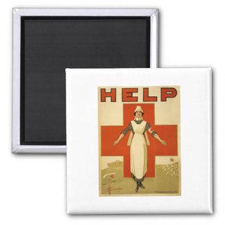 Poster de la Cruz Roja del vintage WW1 Imanes Para Frigoríficos