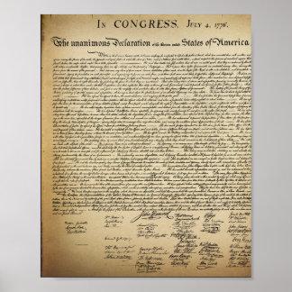 Poster de la Declaración de Independencia del Póster