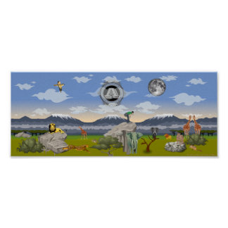 """Poster de la decoración de la pared """"del safari póster"""