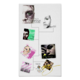Poster de la discografía del pecado de la trinidad