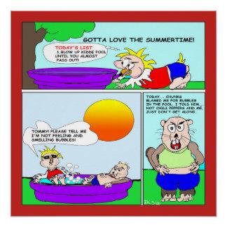 Poster de la diversión del verano