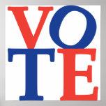 Poster de la elección del voto