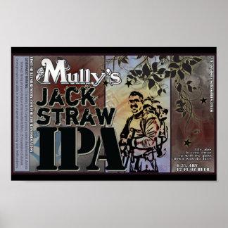 Poster de la etiqueta de Jack Straw IPA