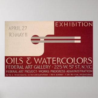 Poster de la exposición de arte del vintage