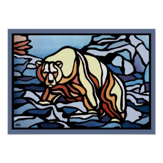 Poster de la fauna de la nación de la impresión de