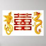 Poster de la felicidad del doble del dragón de Pho
