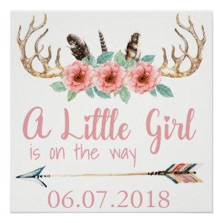 Poster de la fiesta de bienvenida al bebé de la
