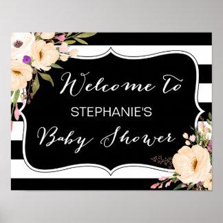 Poster de la fiesta de bienvenida al bebé de las