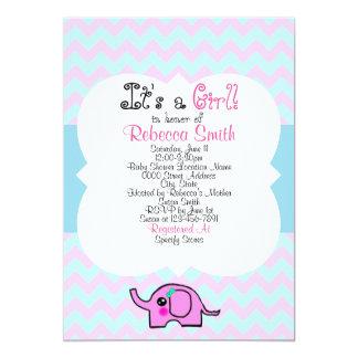 Poster de la fiesta de bienvenida al bebé del invitación 12,7 x 17,8 cm