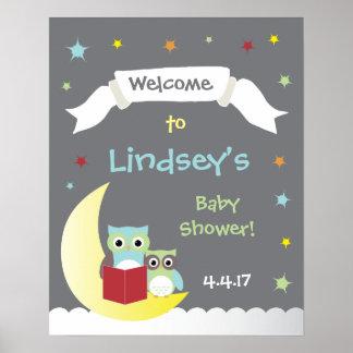 Poster de la fiesta de bienvenida al bebé del póster