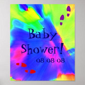"""Poster de la """"fiesta de bienvenida al bebé"""" - pers"""
