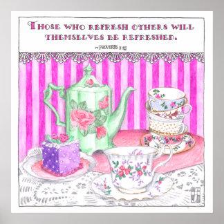Poster de la fiesta del té póster