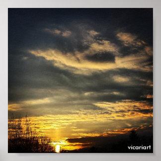 Poster de la foto de la salida del sol póster