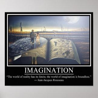 Poster de la imaginación póster