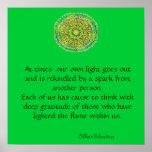 Poster de la mandala de la gratitud