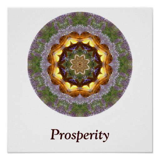 Poster de la mandala de la prosperidad póster