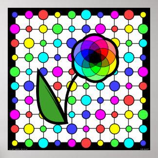 Poster de la margarita de la rueda de color (perso