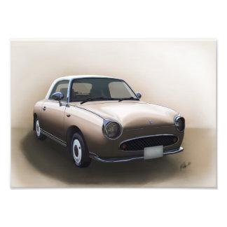 Poster de la niebla del Topaz de Nissan Figaro Arte Fotográfico