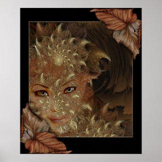 Poster de la ninfa de madera del otoño
