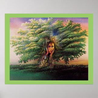 Poster de la ninfa del árbol