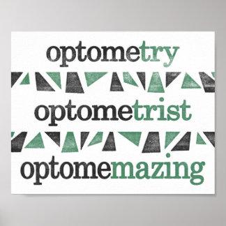 Poster de la optometría - impresión divertida del