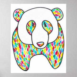 Poster de la panda de la comodidad por Megaflora Póster