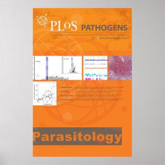 Poster de la parasitología el patógeno de PLoS
