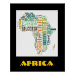Poster de la pared del arte de la palabra de Áfric