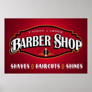 Poster de la peluquería de caballeros 36 x 24 de