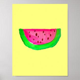 Poster de la pintura del arte pop de PinkWatermelo