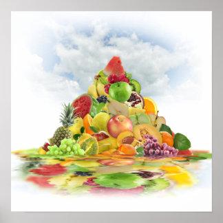 Poster de la pirámide de la fruta fresca