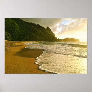 Poster de la playa del Co. Haena de la resaca de Póster