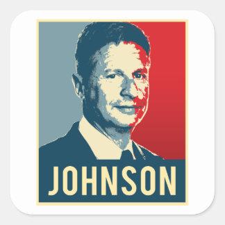 Poster de la propaganda de Gary Johnson - - Pegatina Cuadrada