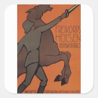 Poster de la propaganda de Hnlsen Pegatina Cuadrada