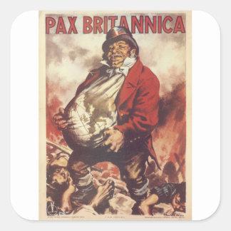 Poster de la propaganda del Pax Britannica Pegatina Cuadrada