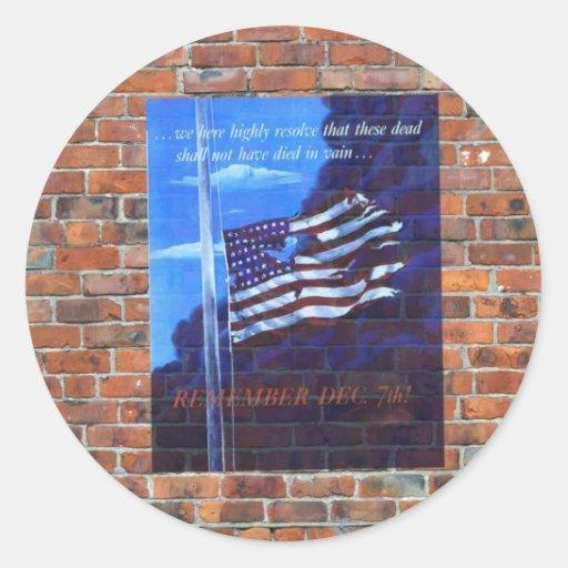 Poster de la propaganda del tiempo de guerra WW2 Pegatina Redonda
