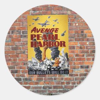Poster de la propaganda del tiempo de guerra WW2 Etiquetas