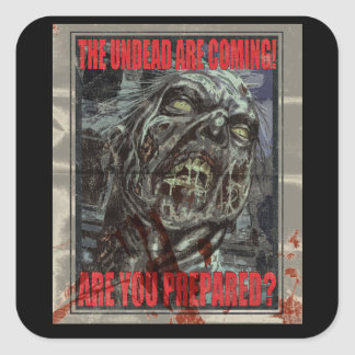 Poster de la propaganda del zombi pegatinas