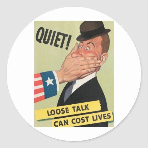 Poster de la propaganda WW2 Etiquetas Redondas