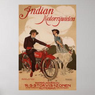 Poster de la publicidad de Vintage Motorcycle Póster