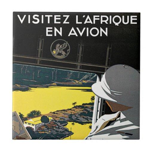 Poster de la publicidad del viaje del vintage de A Teja Cerámica
