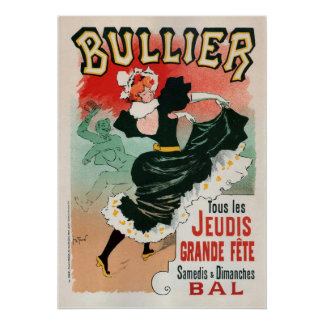 Poster de la publicidad del vintage de Bullier Póster