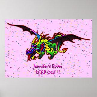 Poster de la puerta del dormitorio del dragón de v
