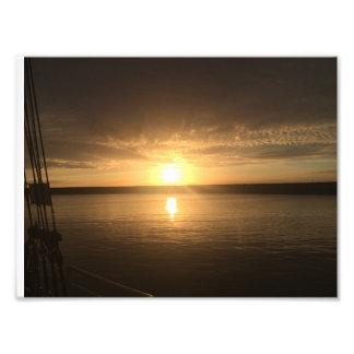 Poster de la puesta del sol foto