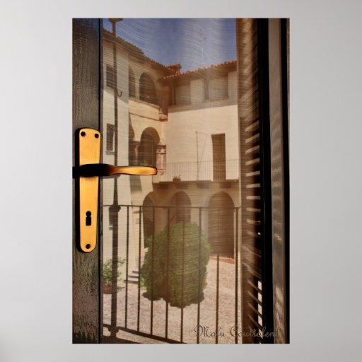 Poster de la reflexión de la ventana