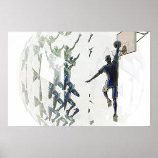 Poster de la refracción del baloncesto póster