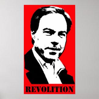 Poster de la revolución de Straus (rojo)