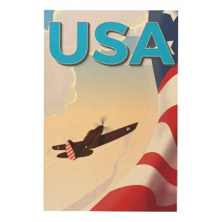 Poster de la Segunda Guerra Mundial del vintage de Cuadros De Madera