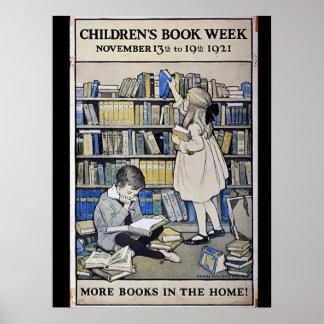 Poster de la semana del libro de 1921 niños póster